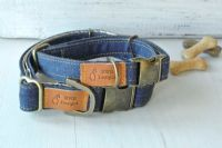 Denim Dog Collar